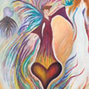 Heart Goddess Art Print