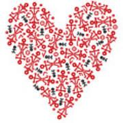 Heart Icon Art Print