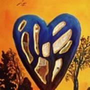 Heart In Glory Art Print