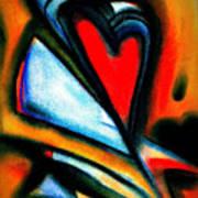 Heart Letters Art Print