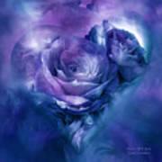 Heart Of A Rose - Lavender Blue Art Print