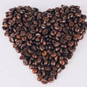 Heart Of Coffee Beans Art Print