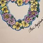 Heart Of Flowers Art Print