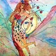 Heart Of Her World Art Print