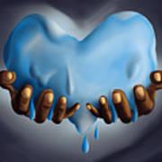 Heart Of Water Art Print by Kenal Louis