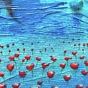 Heart Poppies Art Print by Shawna Scarpitti