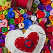 Heart Pushpin Chusion  Art Print