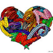 Heart Ribbons Art Print