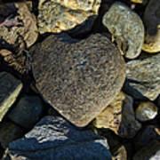 Heart Shaped Stone Loch Fyne  Art Print