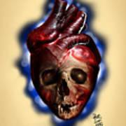Heart Skull Art Print