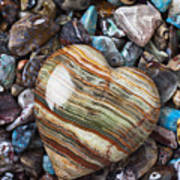 Heart Stone Art Print by Garry Gay