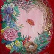 Heart Wreath Art Print