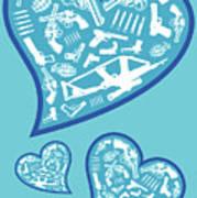 Heartbeats Art Print