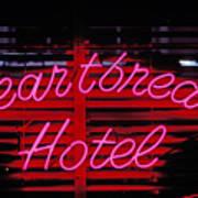 Heartbreak Hotel Neon Art Print by Garry Gay