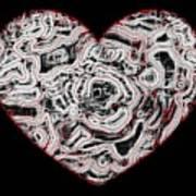 Heartline 1 Art Print