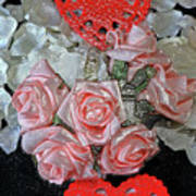 Hearts And Roses Art Print