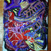 Hearts Drum 2 Art Print