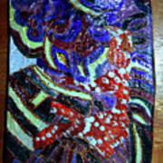 Hearts Drum 7 Art Print