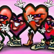 Hearts Gang Art Print