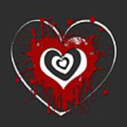 Hearts Graphic 1 Art Print
