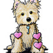 Heartstrings Cairn Terrier Art Print