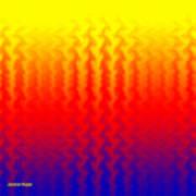Heat Wave Abstract Design Art Print