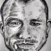 Heath Ledger Charcoal Sketch Art Print