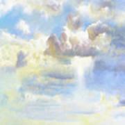 Heavenly Clouded Beautiful Sky Art Print