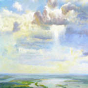 Heavenly Clouded Beauty Abstract Realism Art Print