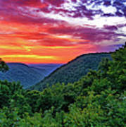 Heaven's Gate - West Virginia - Paint Art Print