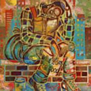 Heavy Burdens  Art Print by Larry Poncho Brown