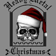 Heavy Metal Christmas Art Print