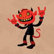 Heavy Metal Devil Art Print by John Schwegel