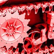 Heavy Metal In Red Art Print