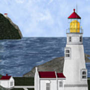 Heceta Head Oregon Art Print