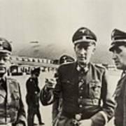 Heindrich Himmler Leftand Heydrich Art Print