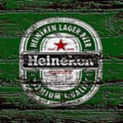 Heineken Beer Wood Sign 2 Art Print