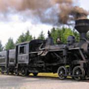 Heisler Steam Engine Number 6 Art Print