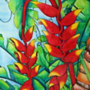 Heliconia Study Art Print