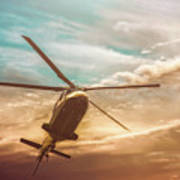 Helicopter Art Print by Bob Orsillo