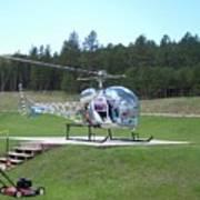 Helicopter Ride South Dakota Art Print