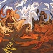 Heavy Weather News - Abstract Modern Art Art Print