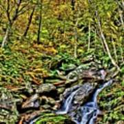 Hellbrook Cascades In Autumn Art Print