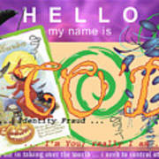 Hello My Name Is Co'd Art Print