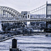 Hells Gate Bridge Triborough Bridge  Art Print