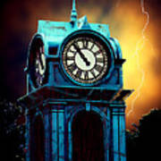 Hells Timeclock Art Print