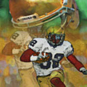 Helmet N Halfback Art Print