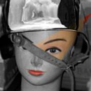 Helmet Art Print