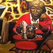 Help Lesotho Grandmother Art Print