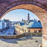 Helsingborg Through The Archway Art Print